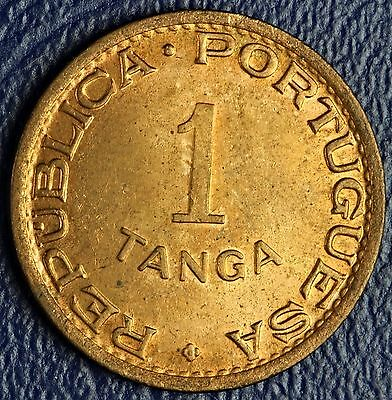 1947 Portuguese India 1 Tanga  * Bu-Brilliant Uncirculated *