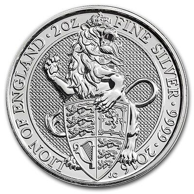 Queen's Beast: The Lion - 2016 Britain 5 Pound 2 oz Silver Bullion Coin
