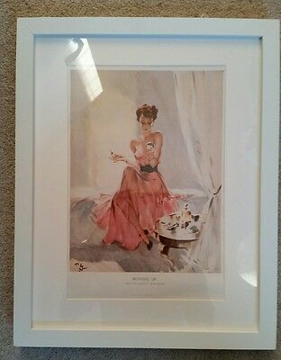 David Wright 1940s Original Vintage Pin Up girl Glamour Framed Picture
