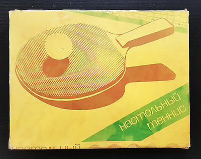 Vintage Table Tennis Ping-Pong Set USSR 1980's