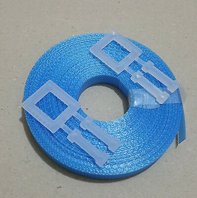 1x Kit BLUE: 15m/12mm strapping 150kg brake + 2x plastic buckle - Hand pallet