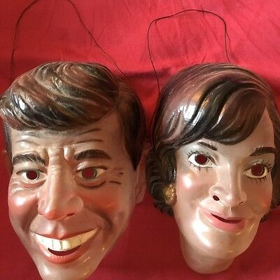 Unusual JFK and Jackie Plastic Masks