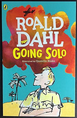 POSTCARD Roald Dahl GOING SOLO Book Cover QUENTIN BLAKE Puffin R042