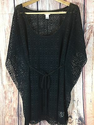 Motherhood Maternity Bathing suit Cover Up Beach Pool Wear Size L Black EUC