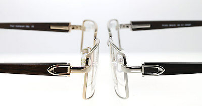 Paul Vasheront Eyeglasses Wood Hand Carved 23K Gold Plated Made In Italy Frames
