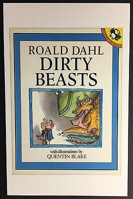 POSTCARD Roald Dahl DIRTY BEASTS Book Cover QUENTIN BLAKE R62