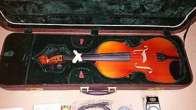 Full size Maple/Ebony Violin BRAND NEW, accessories and case for sale
