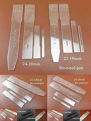 2set Leather Craft Acrylic Watch Strap Band Stencil Template Tool  22-18/24-20mm