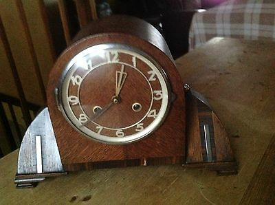 Art Deco Clock With Chrome Fittings