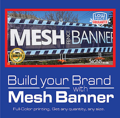 4' x 12' Custom Mesh Banner Full Color High Quality