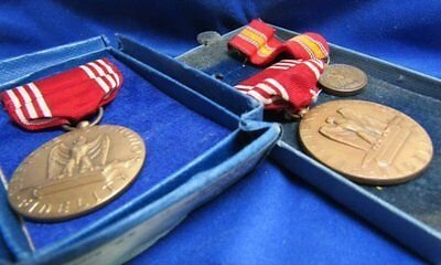 WWII Army Good Conduct Medals and Ribbons Lot Of 3 In Original Boxes