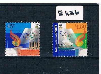 2000 Australia Olympics 2 Value Sheet  Fine Used   E436