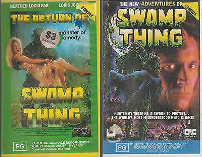 THE RETURN OF / NEW ADVENTURES OF THE SWAMP KING VHS Video Tapes Horror Comedy