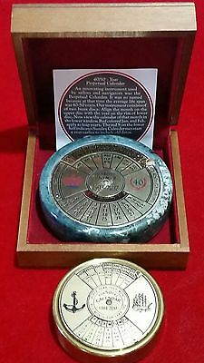 2 40/50-Year Perpetual Calendars By Authentic Models