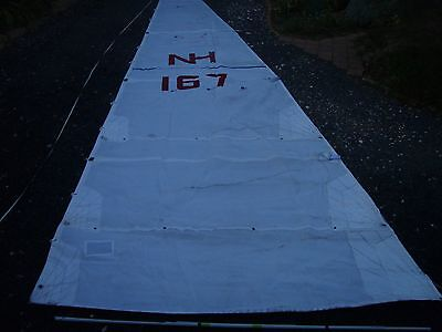 Compass29 mainsail 8oz 9 x 2.7m 2 reefs full battens included 12mm slugs VG