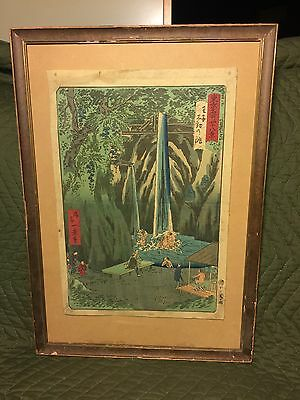Antique And Vintage Signed Japanese Woodblock Woodcut Print Asian Oriental
