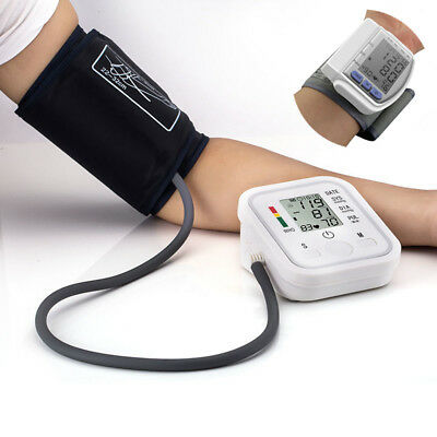 Portable Auto Digital Arm Wrist Blood Pressure Monitor Cuff Home Machine Device