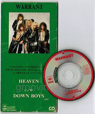 "WARRANT Heaven JAPAN 3"" CD 10EP3091 Unsnapped 1989 issue Free S&H VG/VG+"