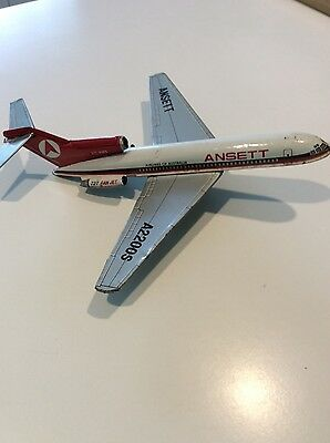 Collectable Ansett Airlines 727 Tinplate Model Plane Made In Japan