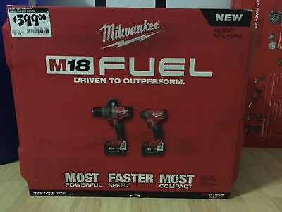 Milwaukee 2897-22 M18 Fuel,18 Volt Lith-ion Cord/Brushless Hammer Drill/Impact