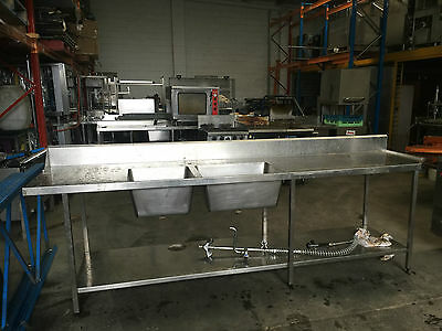 Stainless Steel Double Sink/dishwasher Inlet Bench  In  Excellent Condition