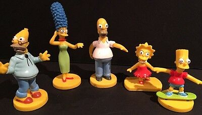 2003 Kellogg's Simpsons Promotional PVC Figures Lot Of 5