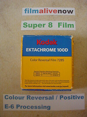 Ektachrome Lives & Processed all over the World, 100D Super 8 Movie Film Stock