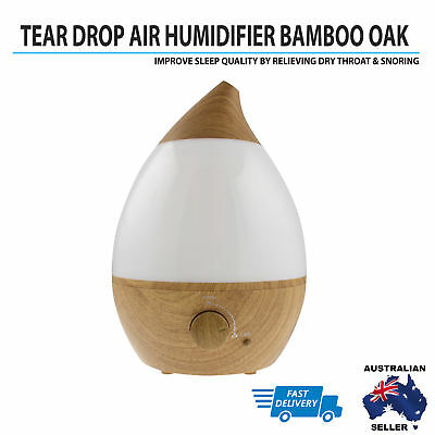 Ultrasonic Cool Mist Purifier Steam Nebulizer Diffuser Light Oak Air Humidifier