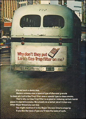 1970 Vintage ad for Lark's Gas Trap Filter`Cigarettes Bus Photo (091616)