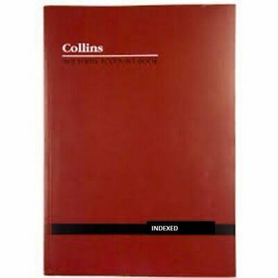 Collins A60 Account Book Indexed Through  120 Page - 10334