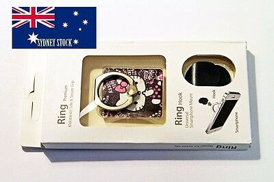 1 x Hello Kitty Ring Hook Mobile Phone Car Mount Holder for Any Smartphone