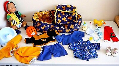 Baby Born Zapf Creations Baby Wetting Doll + Clothing + Accessories + Potty, Bed