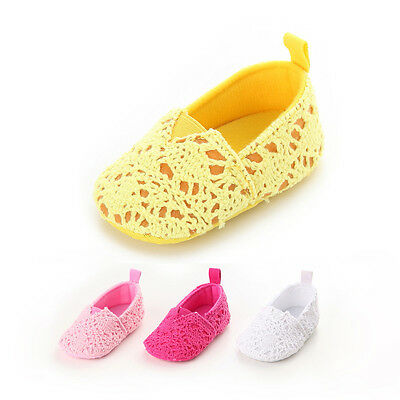 Newborn Baby GIRLS Casual Knit Crochet Crib Shoes Summer Infant Lovely Prewalker