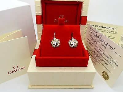 OMEGA Flower Earring Set Ref: E61BGA0204005 Solid Rose Gold With Mother Of Pearl