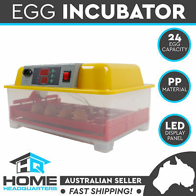 Digital LED Automatic 24 Egg Incubator Turning Chicken Duck Poultry Eggs Hatch P