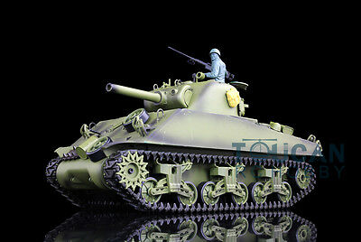 HengLong 1/16 Scale USA M4A3 Sherman Plastic Version RTR RC Tank Model 3898