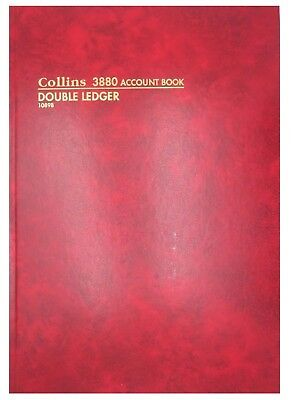 Collins 3880 A4 Account Book Double Ledger  - 10898