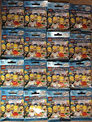 Lego 71005 Complete Set Simpsons Series 1 Minifigures Brand New Sealed Packets