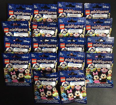 Lego 71012 Complete Set of 18 Disney Minifigures Brand New In Sealed Packets
