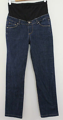 JEANS WEST MATERNITY ~ Dark Blue Denim Wash Stretch Slim Leg Jeans ~ 8