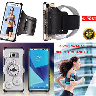 Samsung Galaxy S8 / S8+ Sport Armband Case Cover Set Running Jogging Outdoor