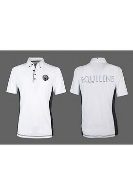 Equiline Zac Boys competition polo shirt White 12/13