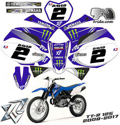 YAMAHA TTR 125 Kit déco perso complet decals kit graphics 2008-2017