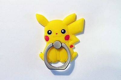 Pokemon Pikachu PVC Ring Hook Mobile Phone Car Mount Holder for Any Smartphone