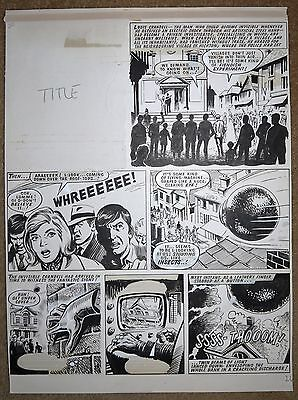 The Steel Claw Original Art Page By Blasco