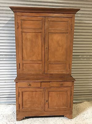Antique French Pine Provincial Kitchen Cupboard