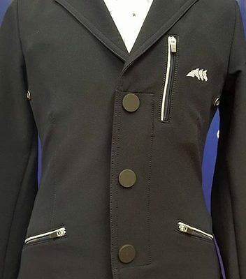 Equiline Denny Boys competition Jacket Black 12/13