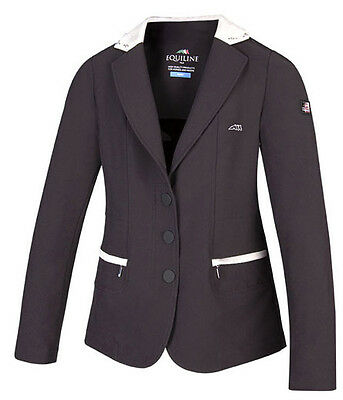 Equiline Ambra Girls competition Jacket Navy 10/11