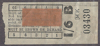 Sydney 1957 1/6 Manly - Dee Why Bus Ticket $2