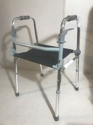 Mobility Walking Frame With Seat Lightweight Walker Alternative To Rollator NEW